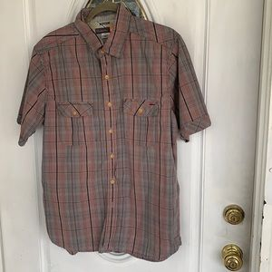 Quiksilver Muted Plaid Cotton Shirt